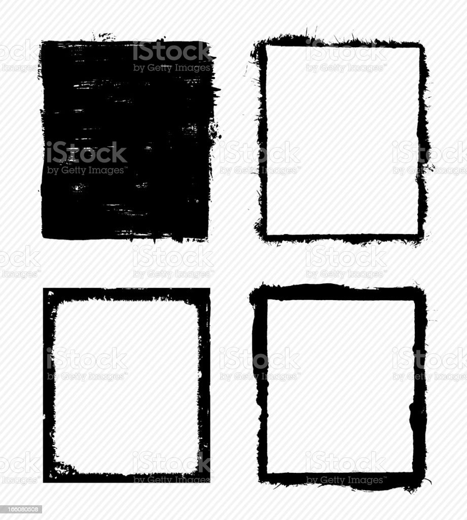 Grunge frames royalty-free stock vector art