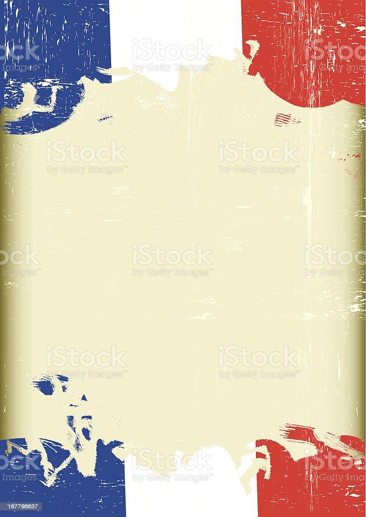 Grunge french flag. vector art illustration