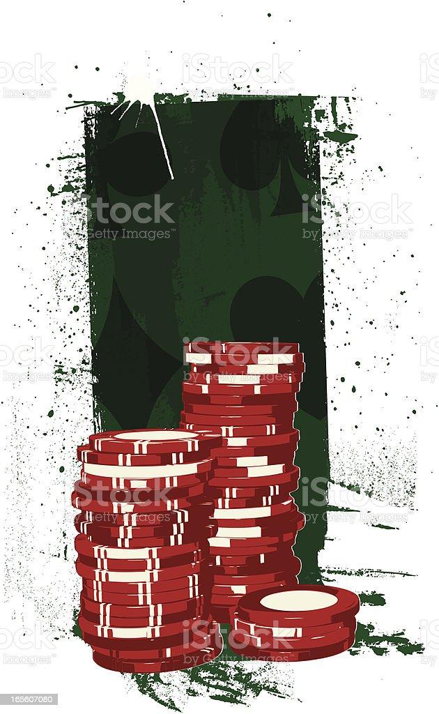 grunge gambling chips royalty-free stock vector art