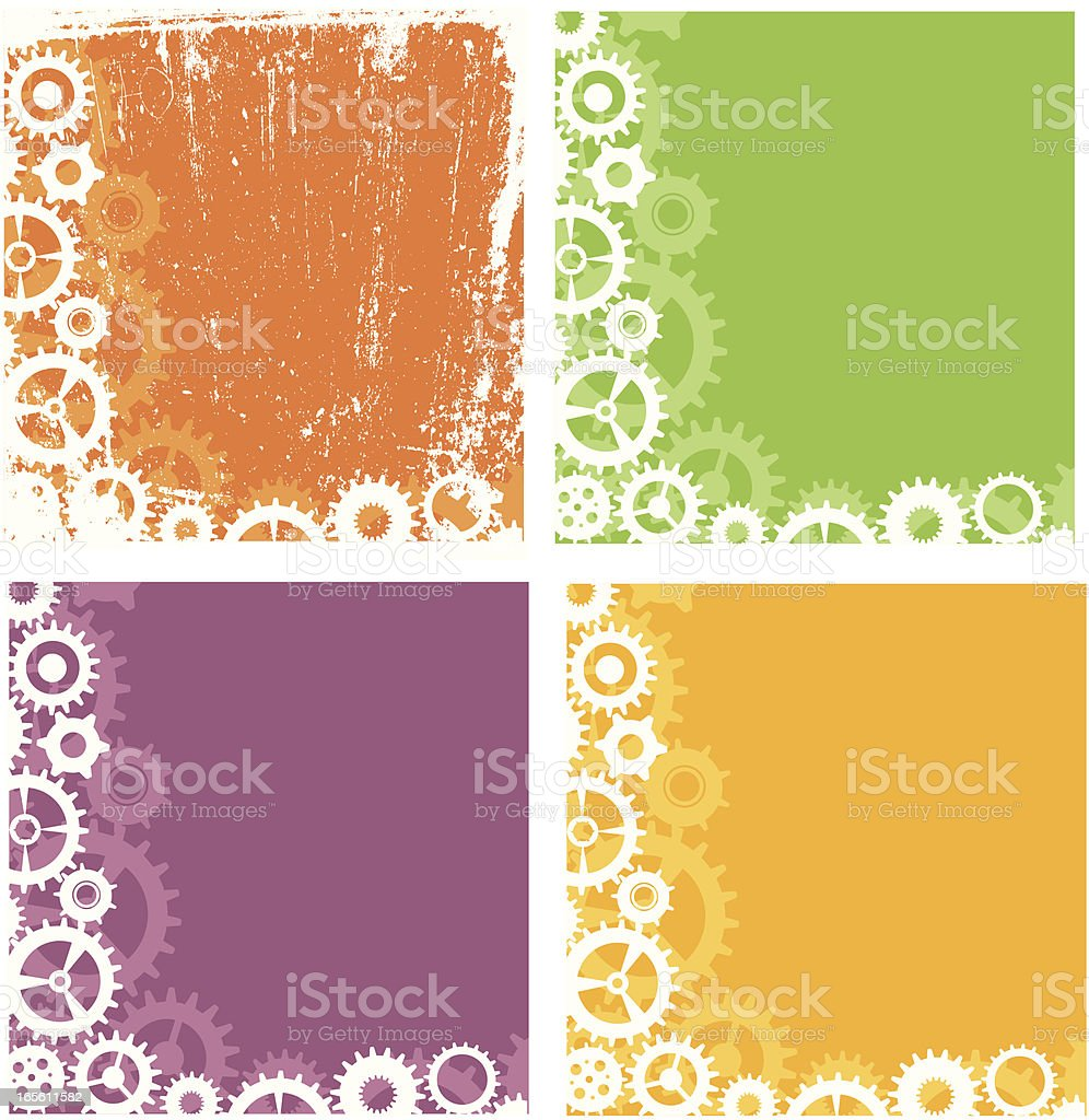 Grunge Gear Banner royalty-free stock vector art