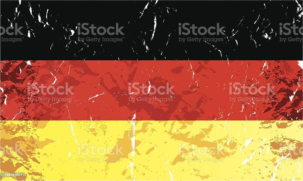 Grunge Germany Flag royalty-free stock vector art