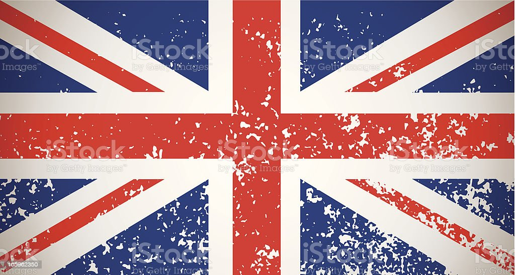 Grunge Great Britain flag royalty-free stock vector art