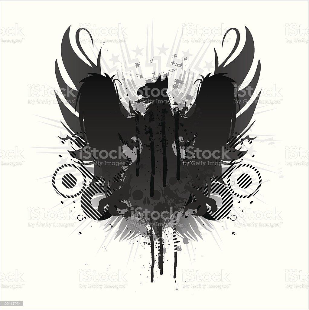 grunge griffin vector art illustration