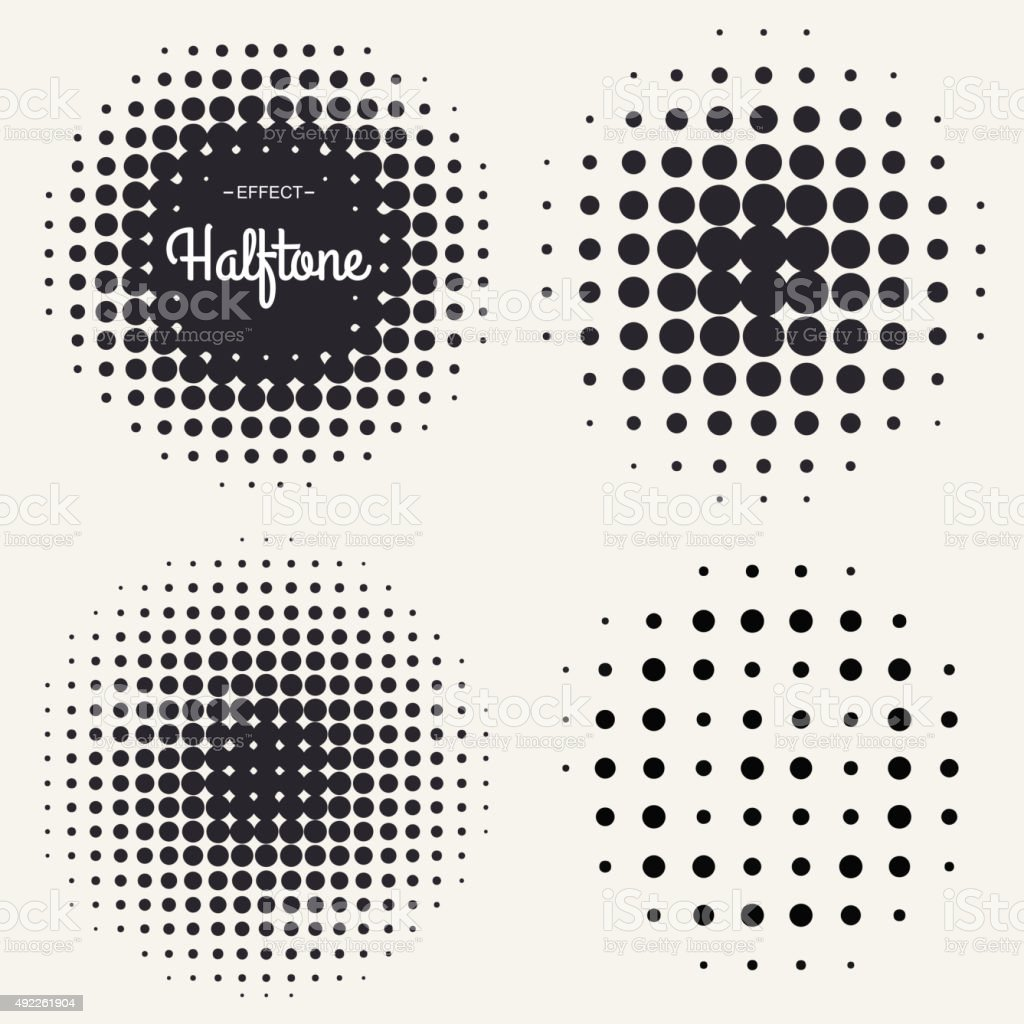 Grunge halftone background vector art illustration