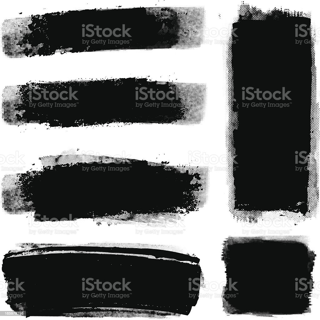 Grunge halftone paint strips royalty-free stock vector art