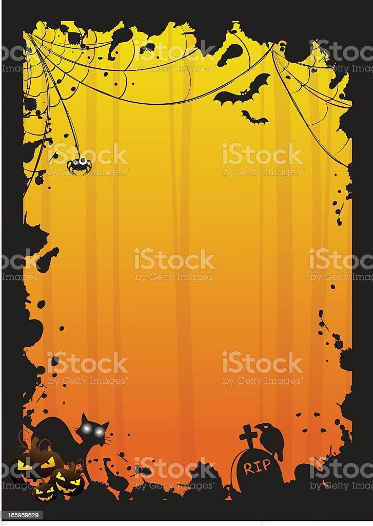 Halloween fond Grunge stock vecteur libres de droits libre de droits