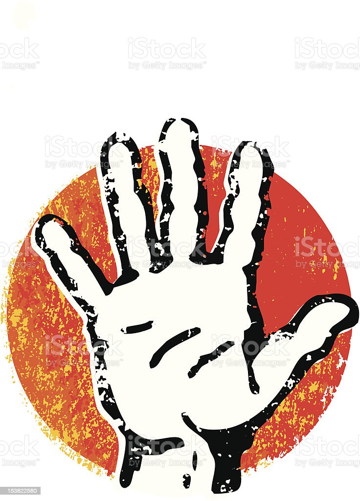 grunge hand royalty-free stock vector art