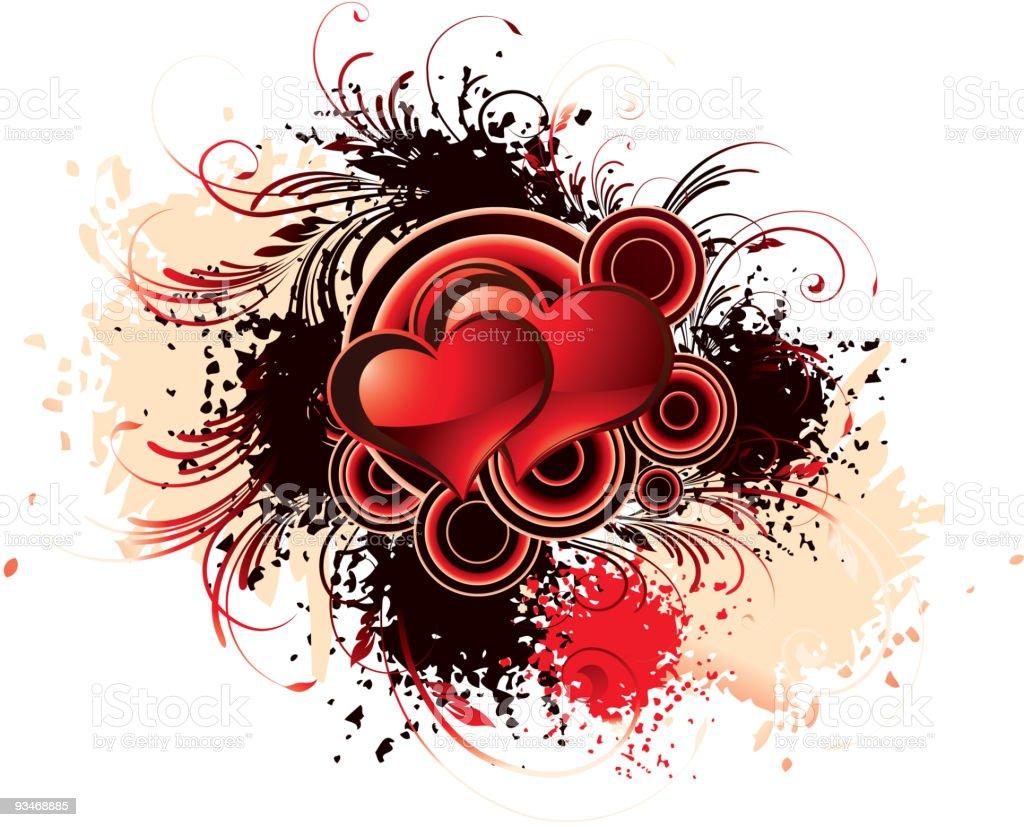 grunge heart royalty-free stock vector art