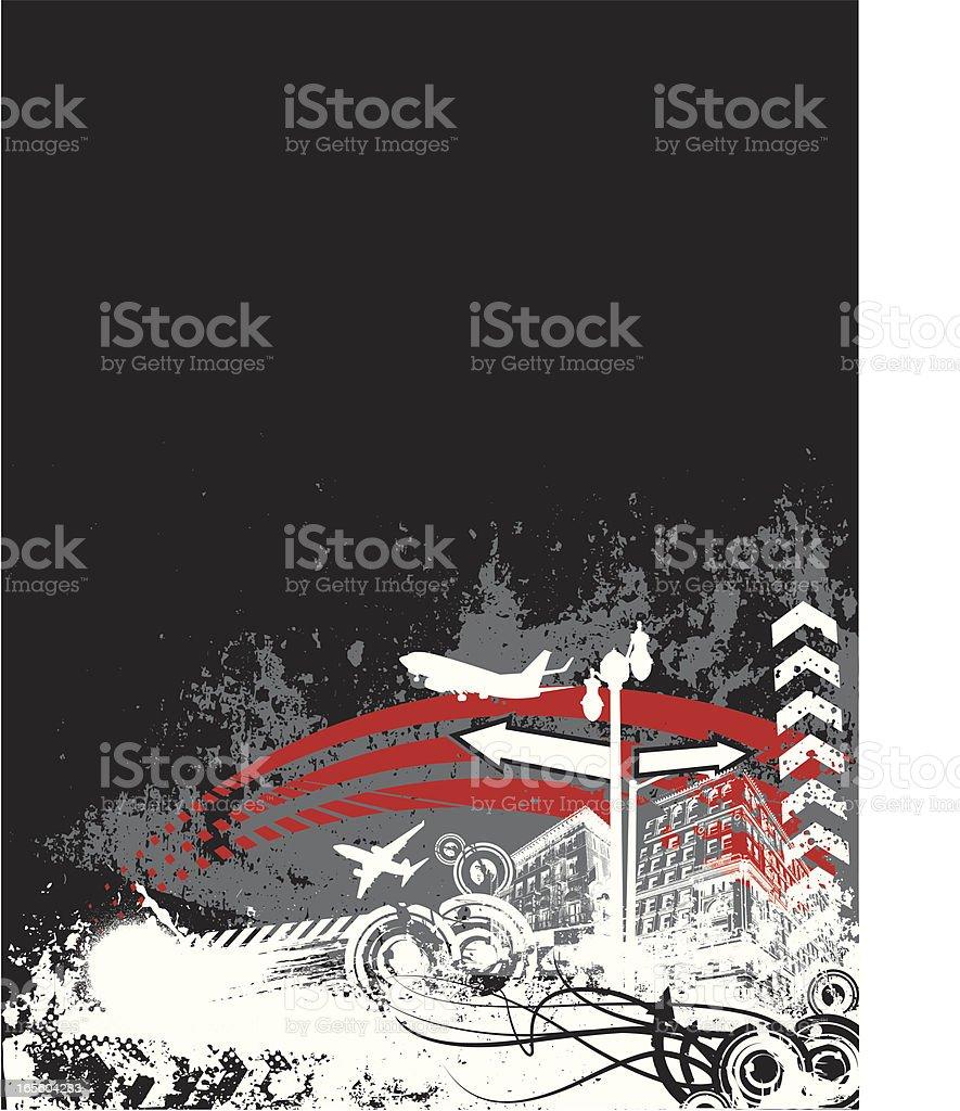grunge horizon royalty-free stock vector art