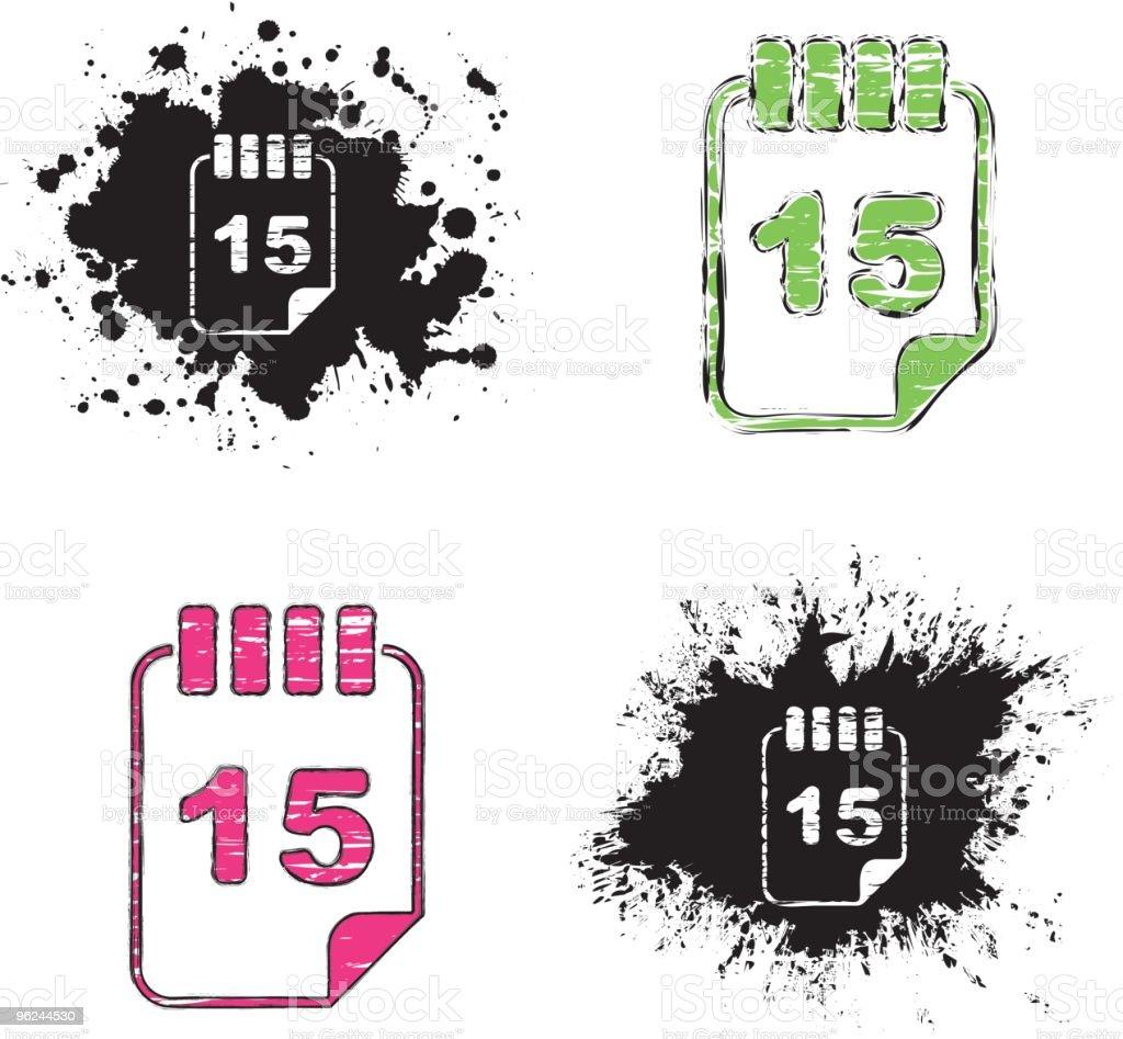 grunge icons - calendar royalty-free stock vector art