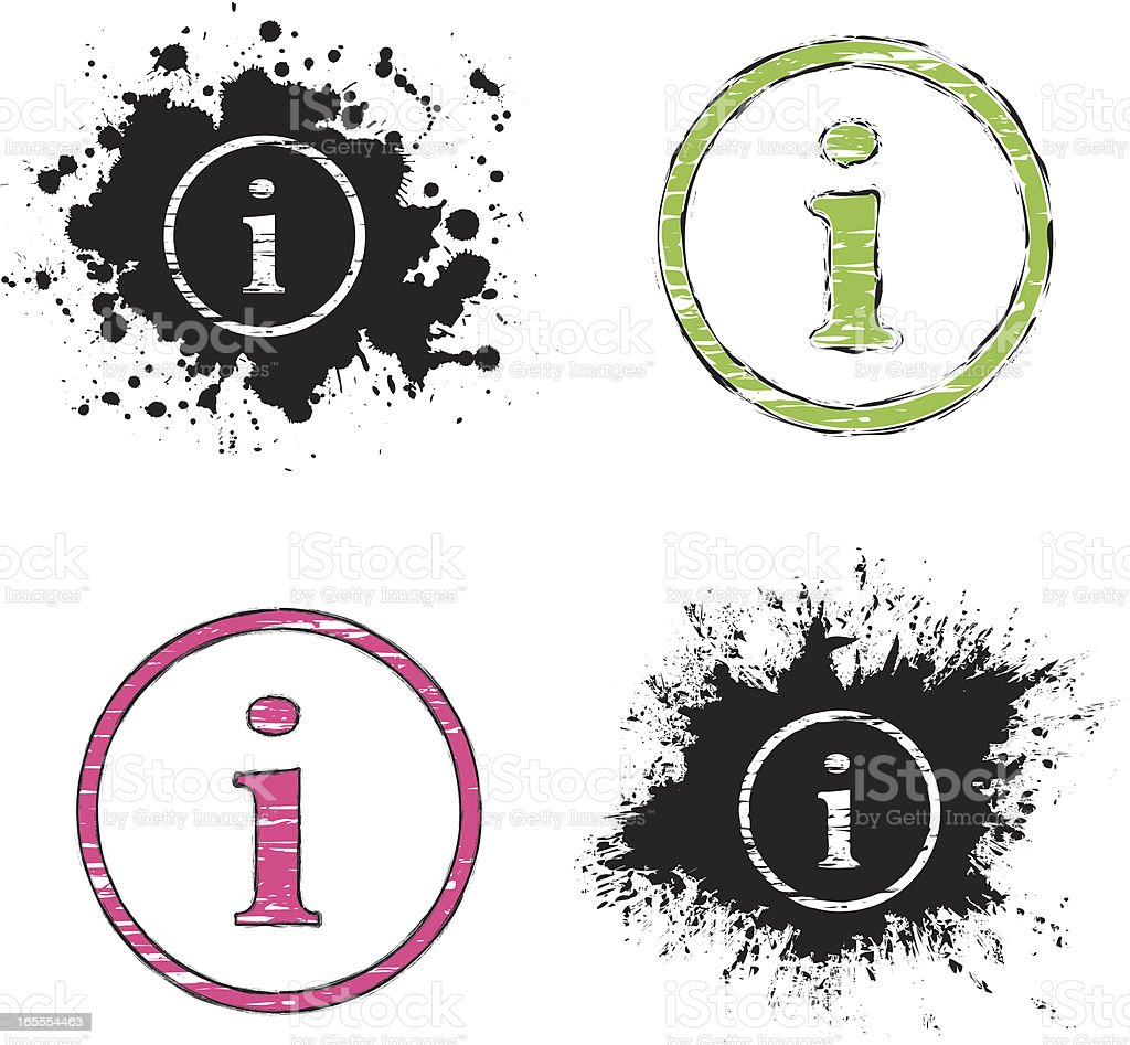 grunge icons - information sign royalty-free stock vector art