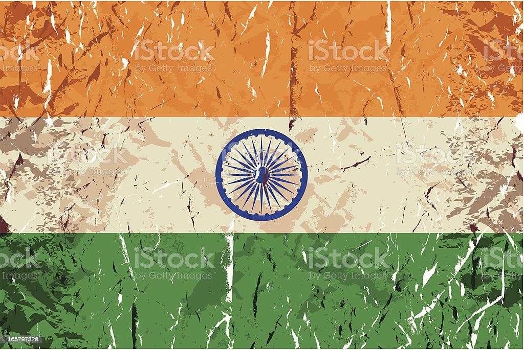 Grunge Indian Flag royalty-free stock vector art