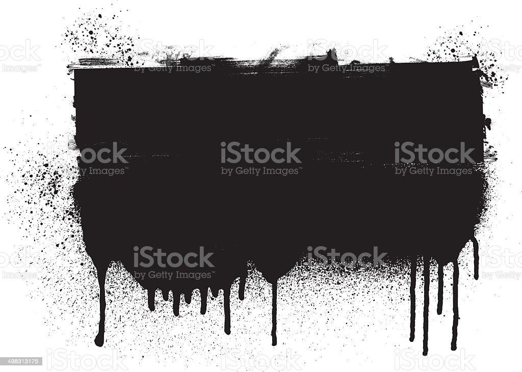 grunge inky black banner vector art illustration