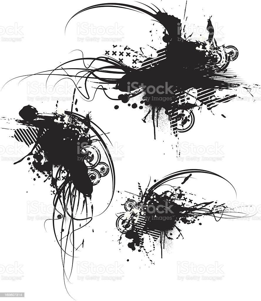 grunge line royalty-free stock vector art
