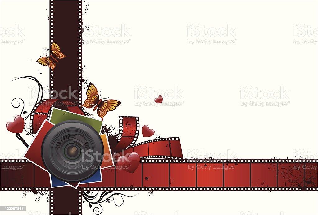 grunge love & film elements royalty-free stock vector art