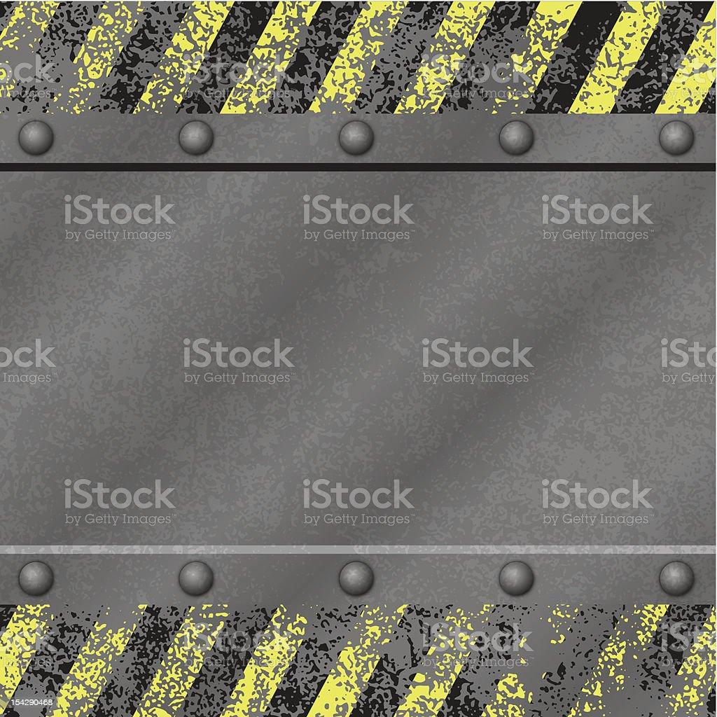 Grunge Metal Background vector art illustration