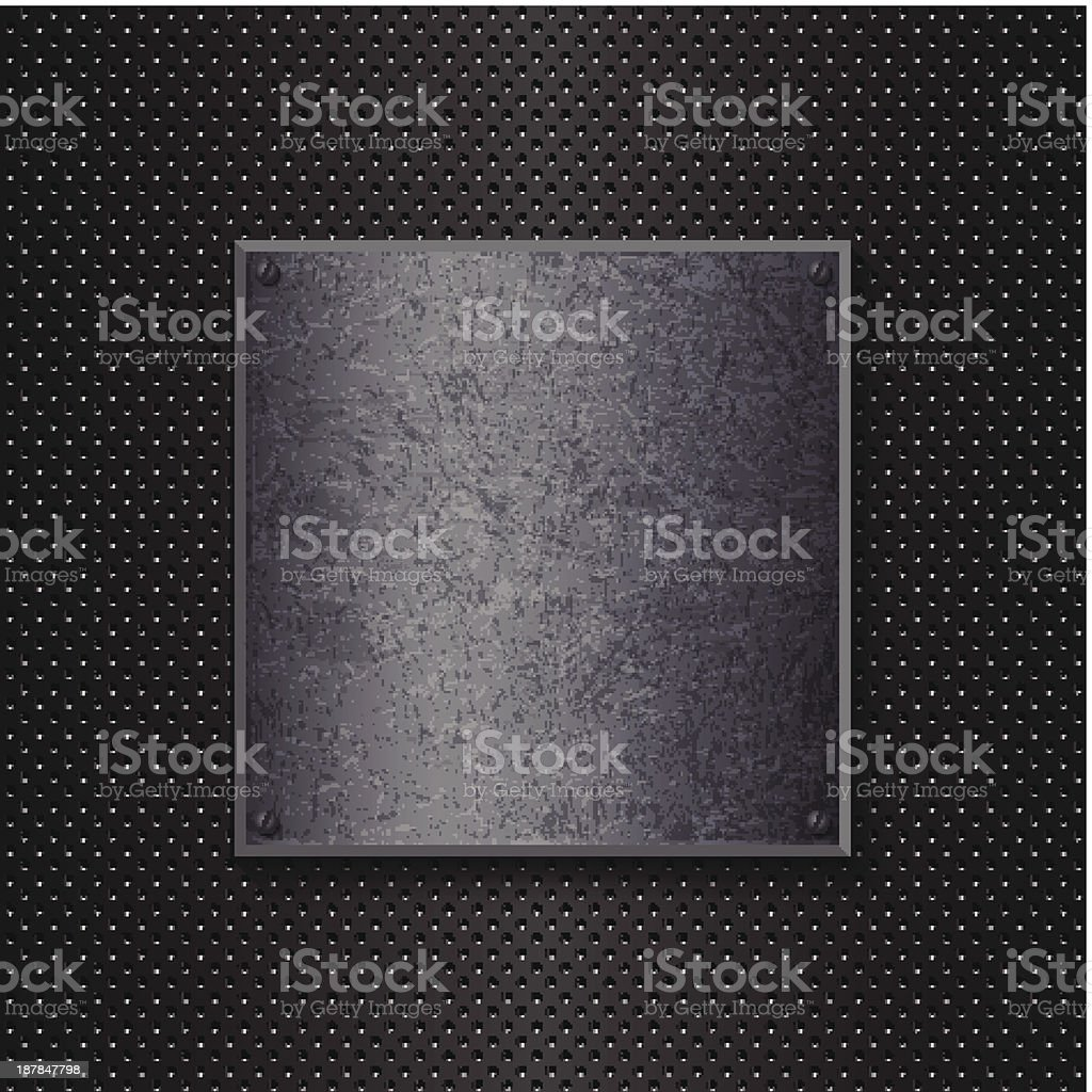 Grunge metal background royalty-free stock vector art