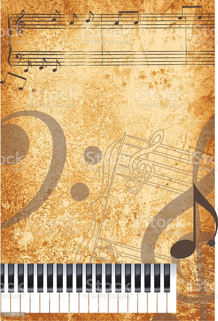 Grunge Music Background royalty-free stock vector art