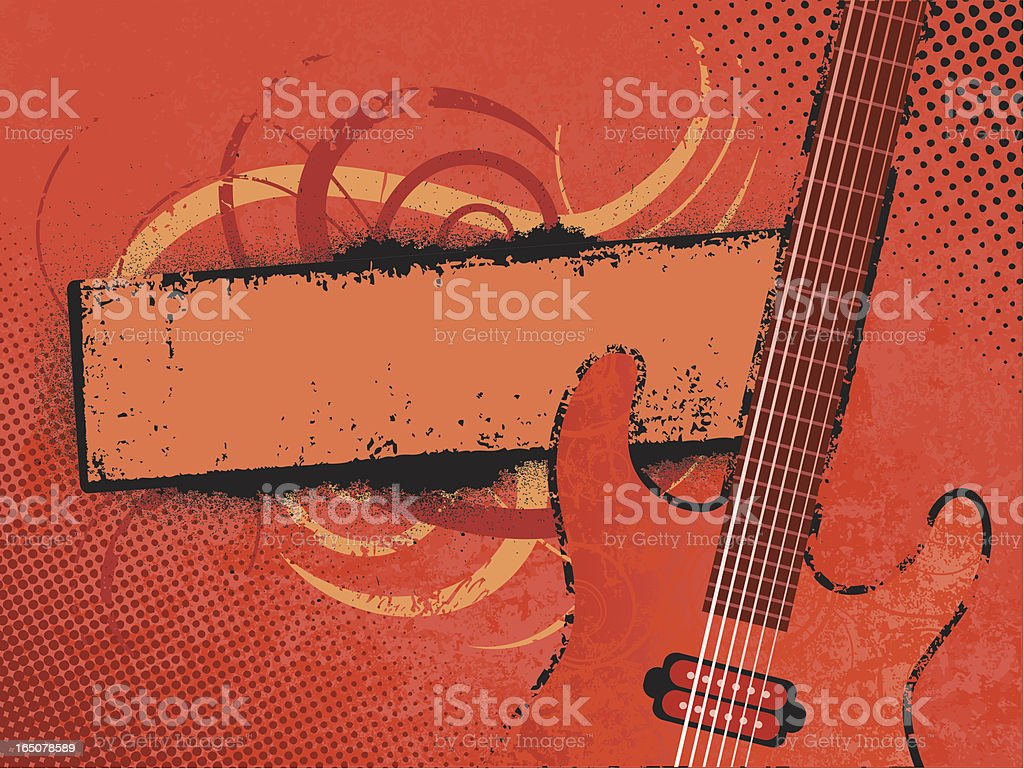 Grunge music banner vector art illustration