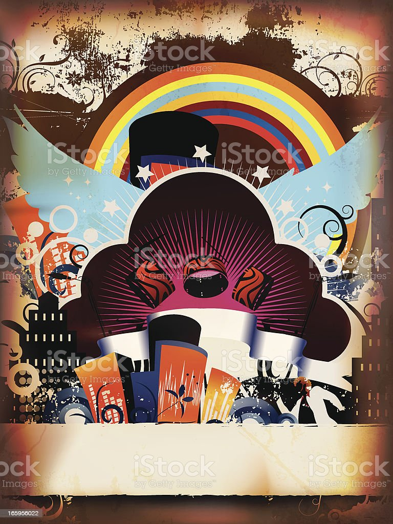 Grunge Music Deisgn royalty-free stock vector art