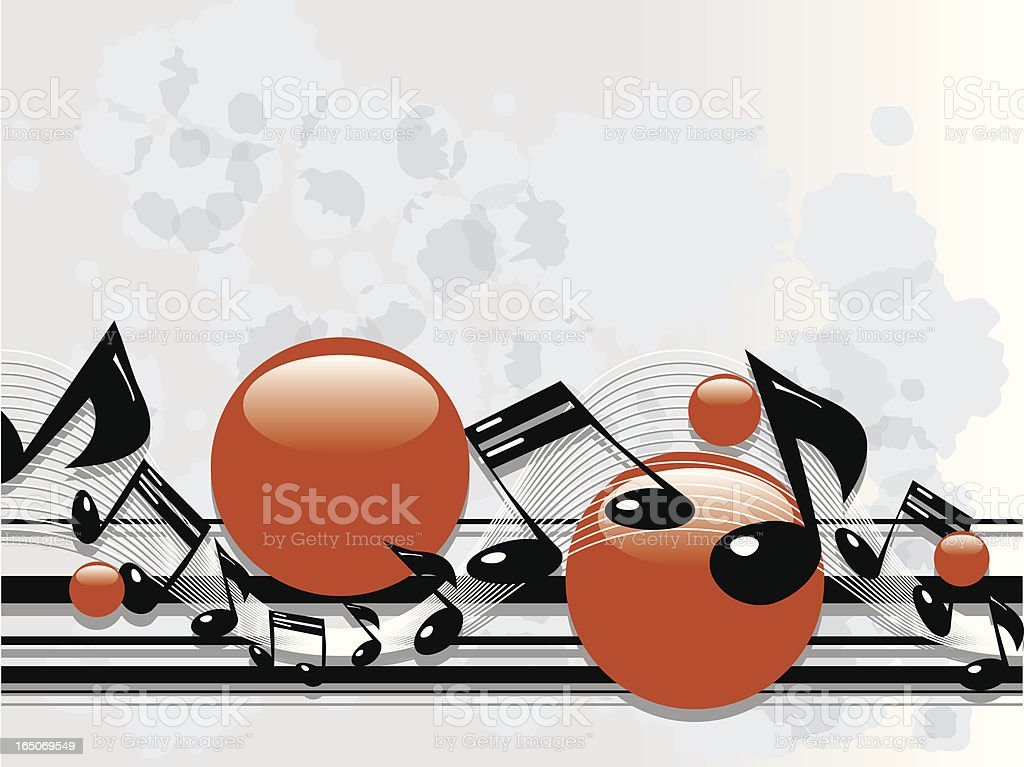 Grunge Music Notes royalty-free stock vector art