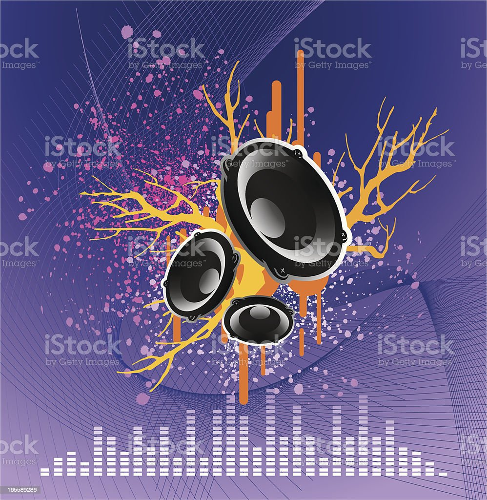 Grunge Music royalty-free stock vector art