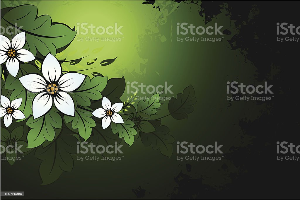 Grunge Natural floral background royalty-free stock vector art
