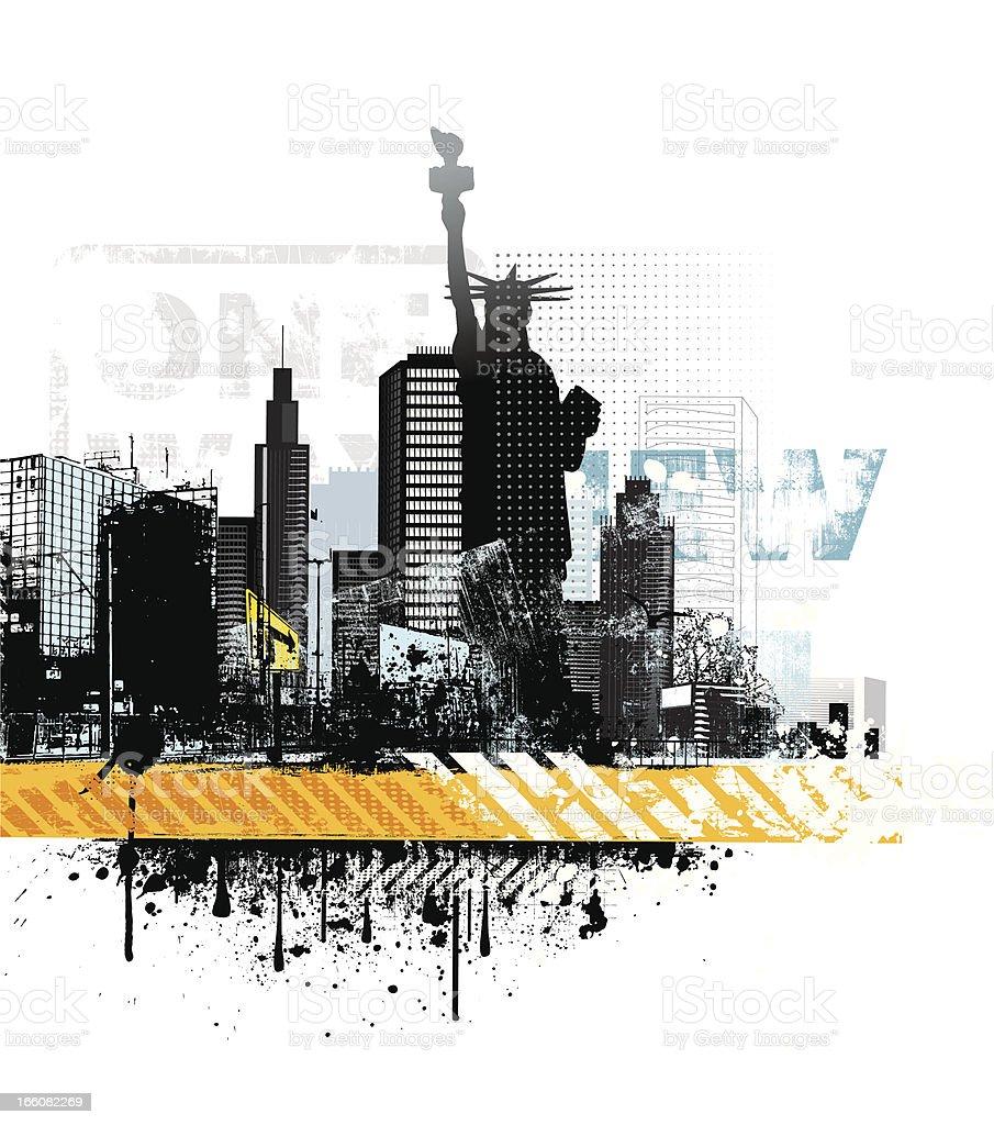 Grunge New York royalty-free stock vector art