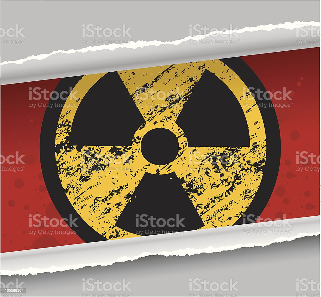 Grunge Nuclear Warning Sign royalty-free stock vector art