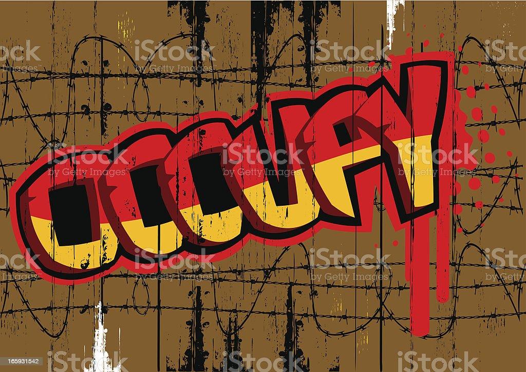Grunge occupy word vector art illustration