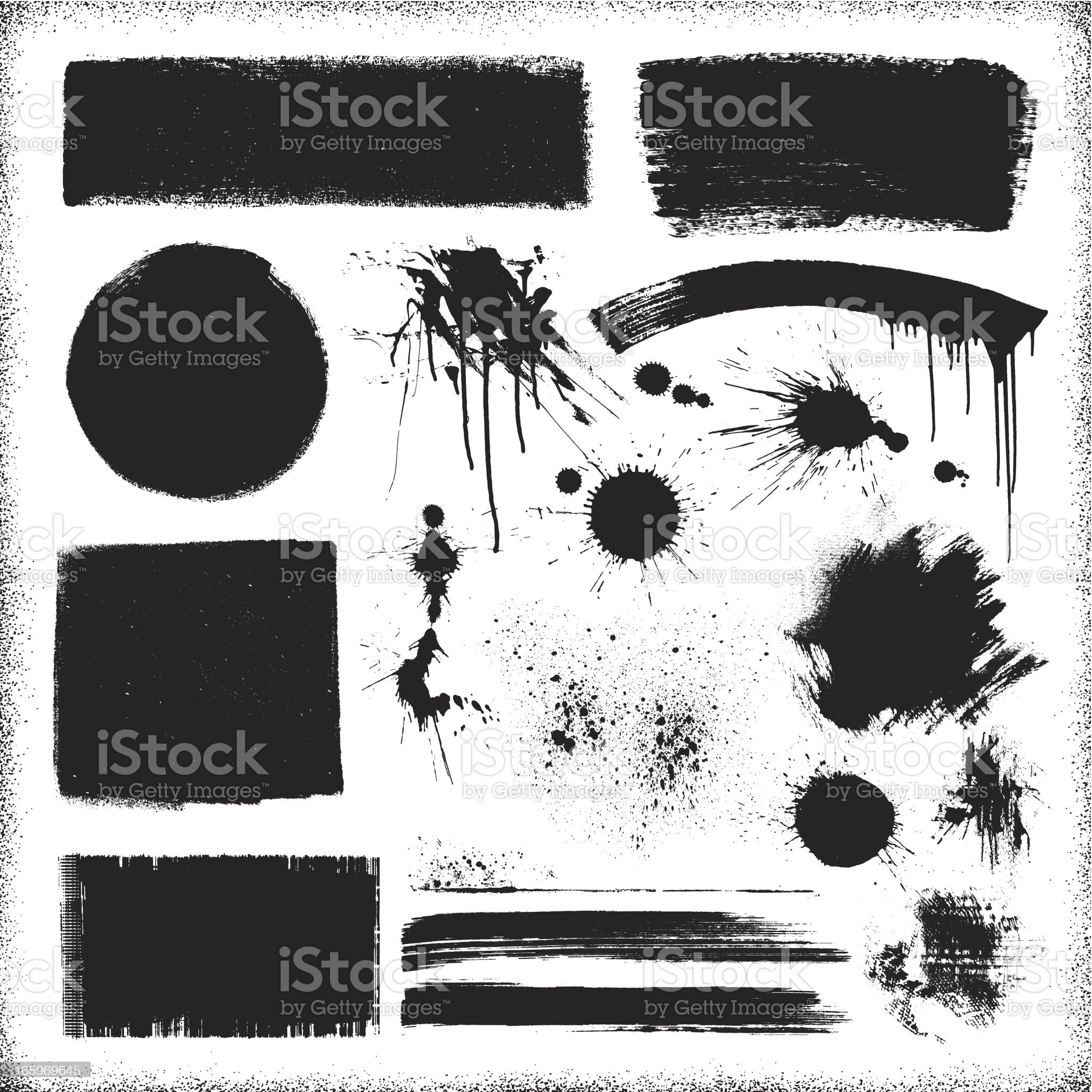 Grunge Paint Textures royalty-free stock vector art