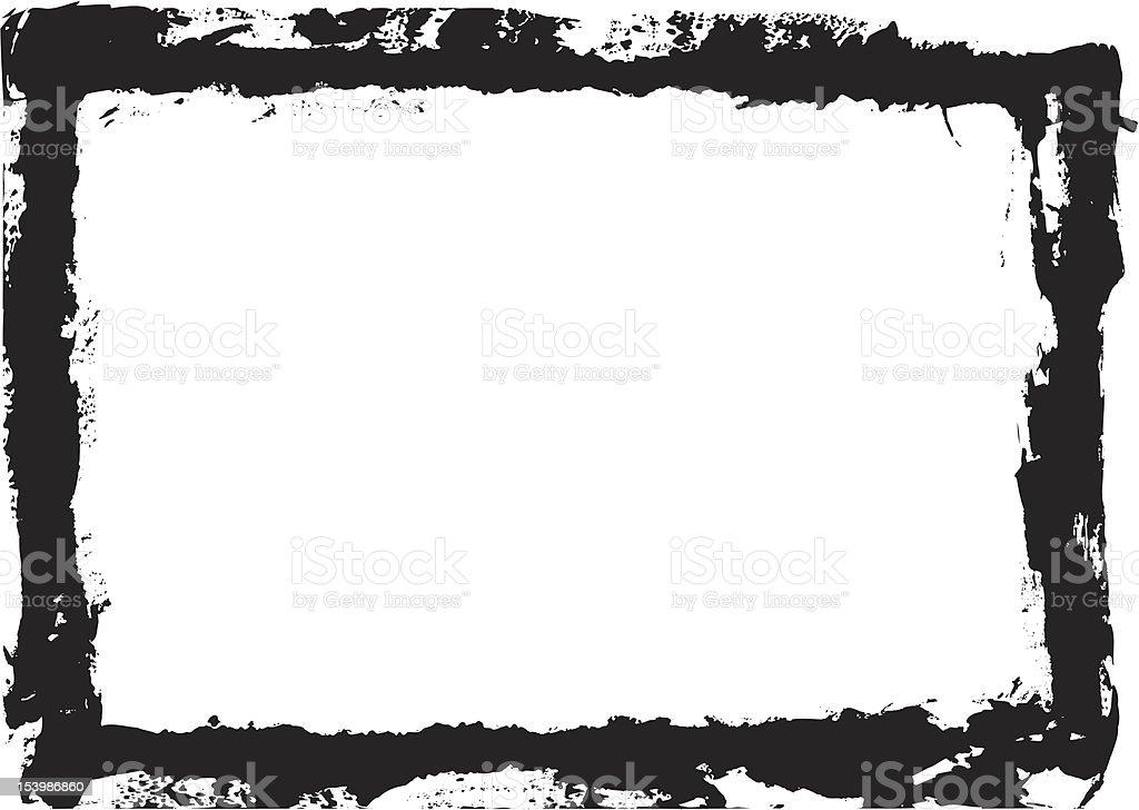 Grunge, Painterly Border royalty-free stock vector art