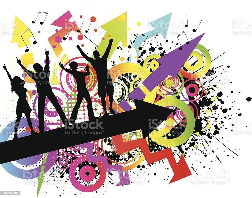 Grunge party vector art illustration