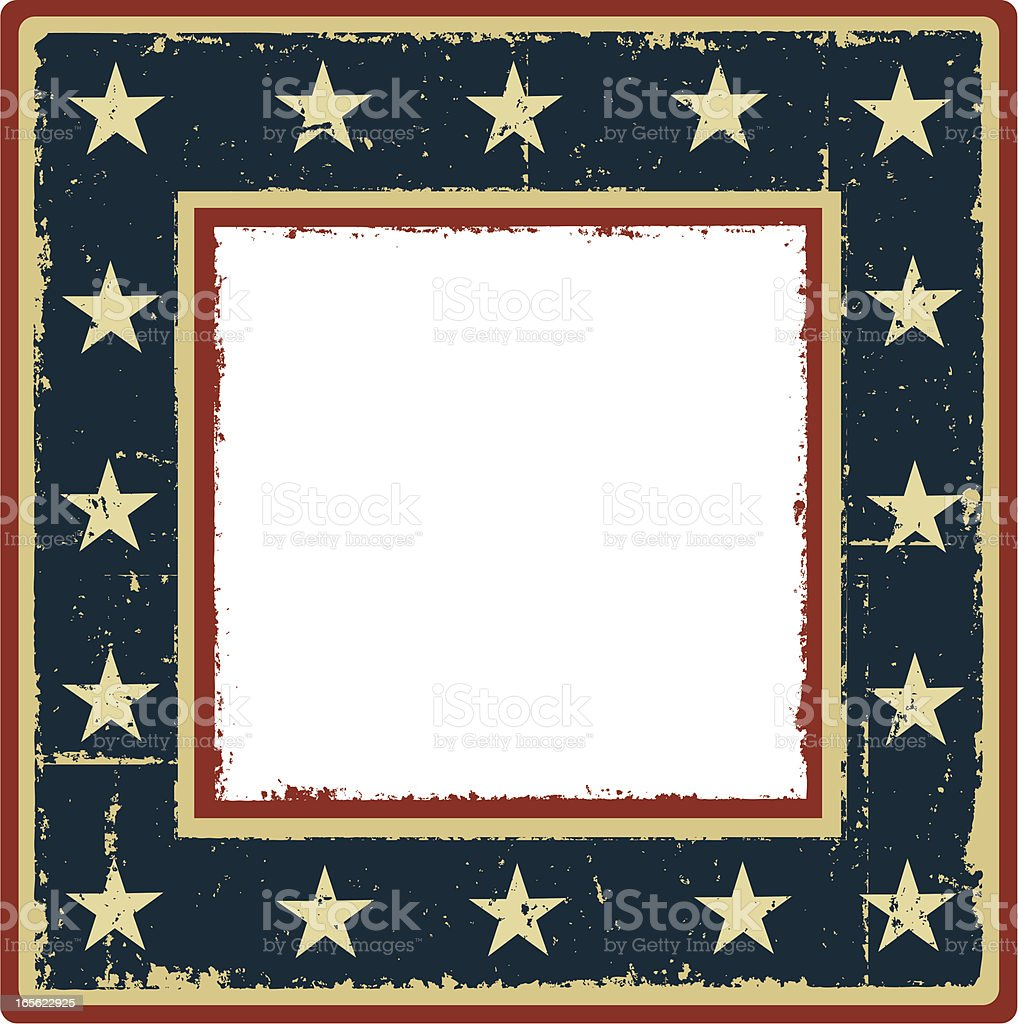 Grunge Patriotic Frame royalty-free stock vector art