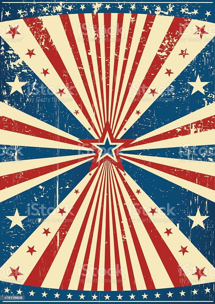grunge patriotic poster vector art illustration