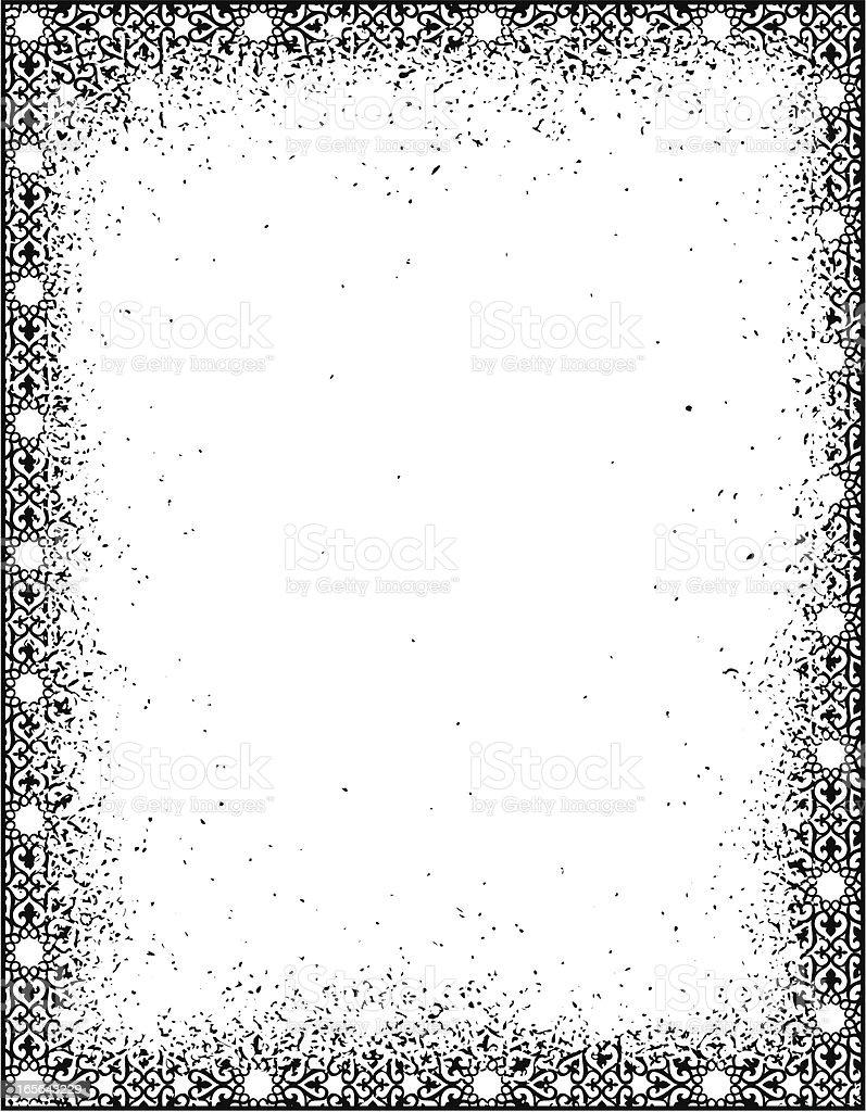 Grunge Pattern Frame royalty-free stock vector art