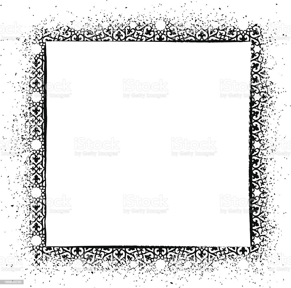 Grunge Pattern Frame vector art illustration