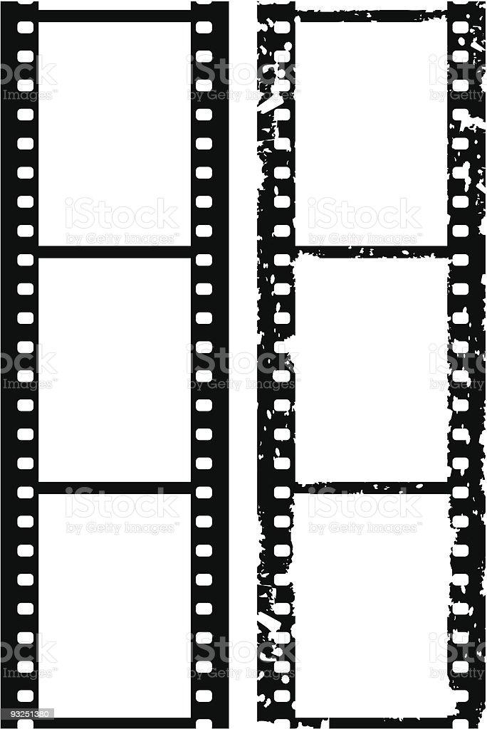 Grunge photo border, 35 mm film, vector vector art illustration