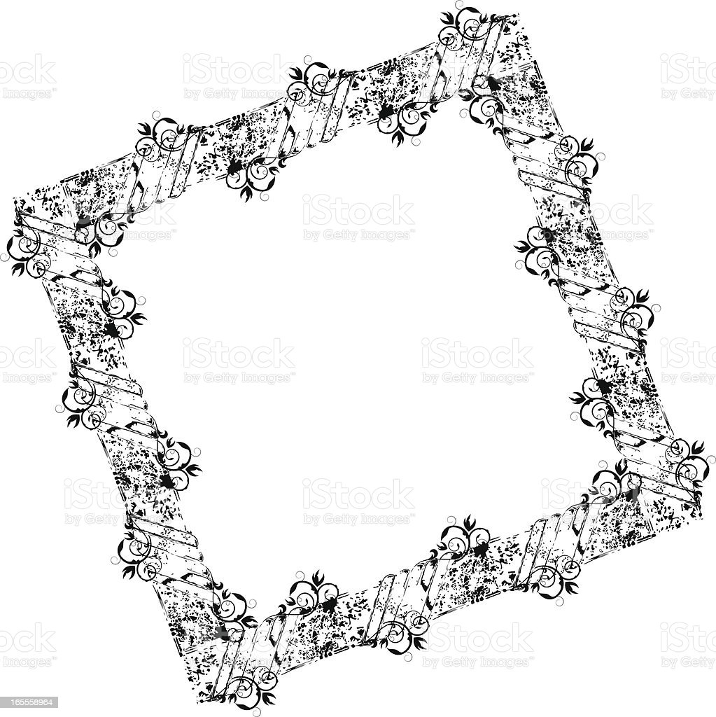grunge picture frame royalty-free stock vector art