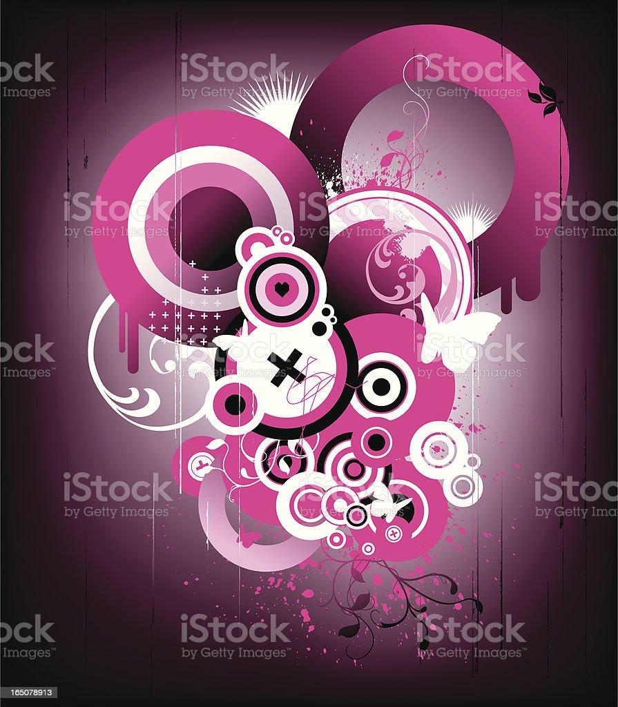 grunge pink royalty-free stock vector art