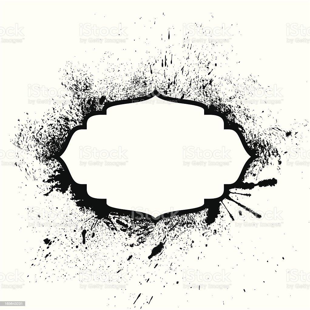 Grunge Placard royalty-free stock vector art