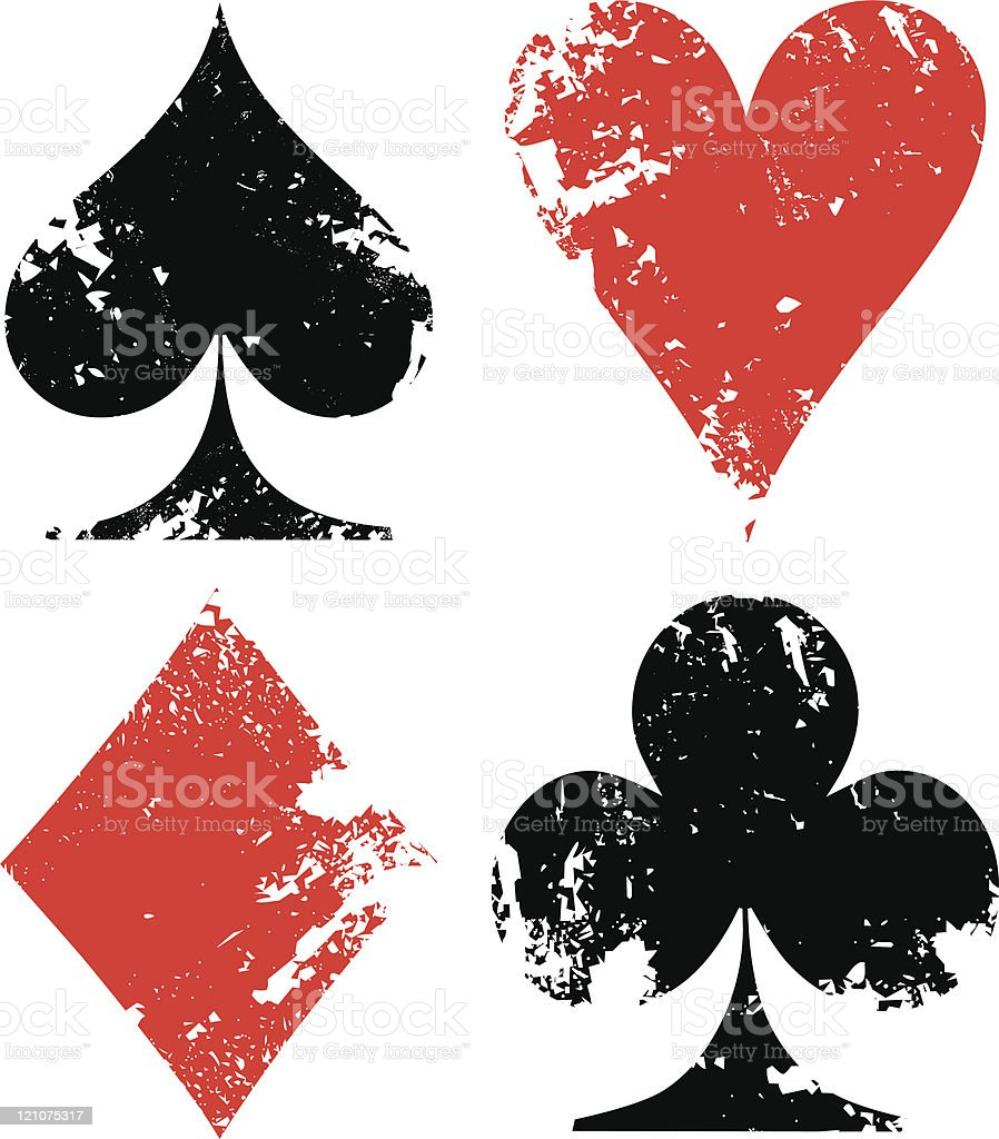 Grunge poker signs royalty-free stock vector art