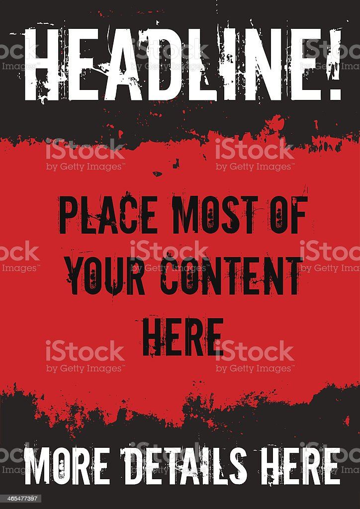 Grunge poster royalty-free stock vector art