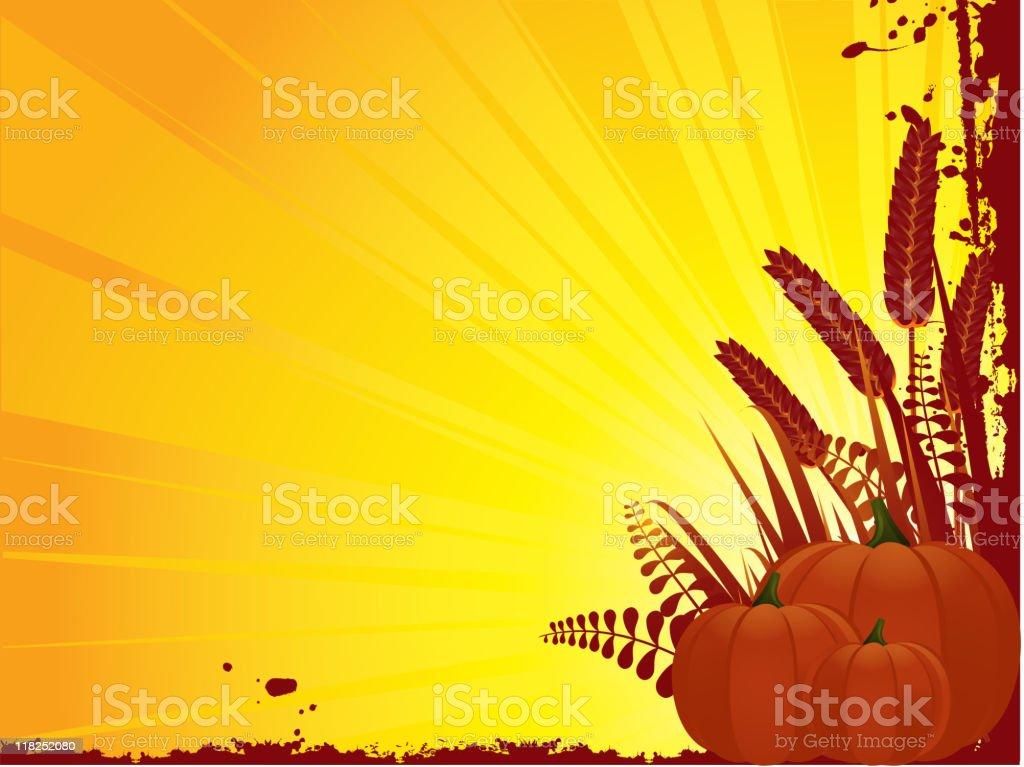 grunge pumpkin background royalty-free stock vector art