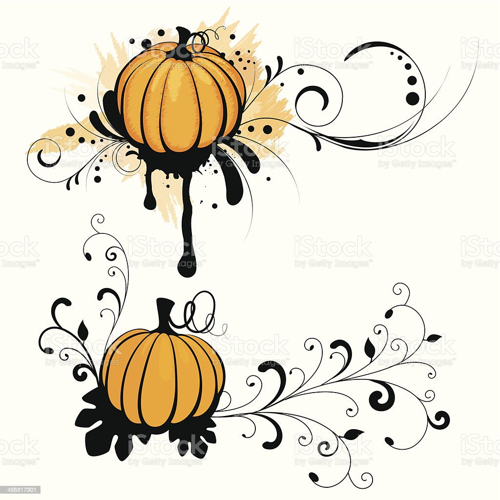 Grunge pumpkin royalty-free stock vector art