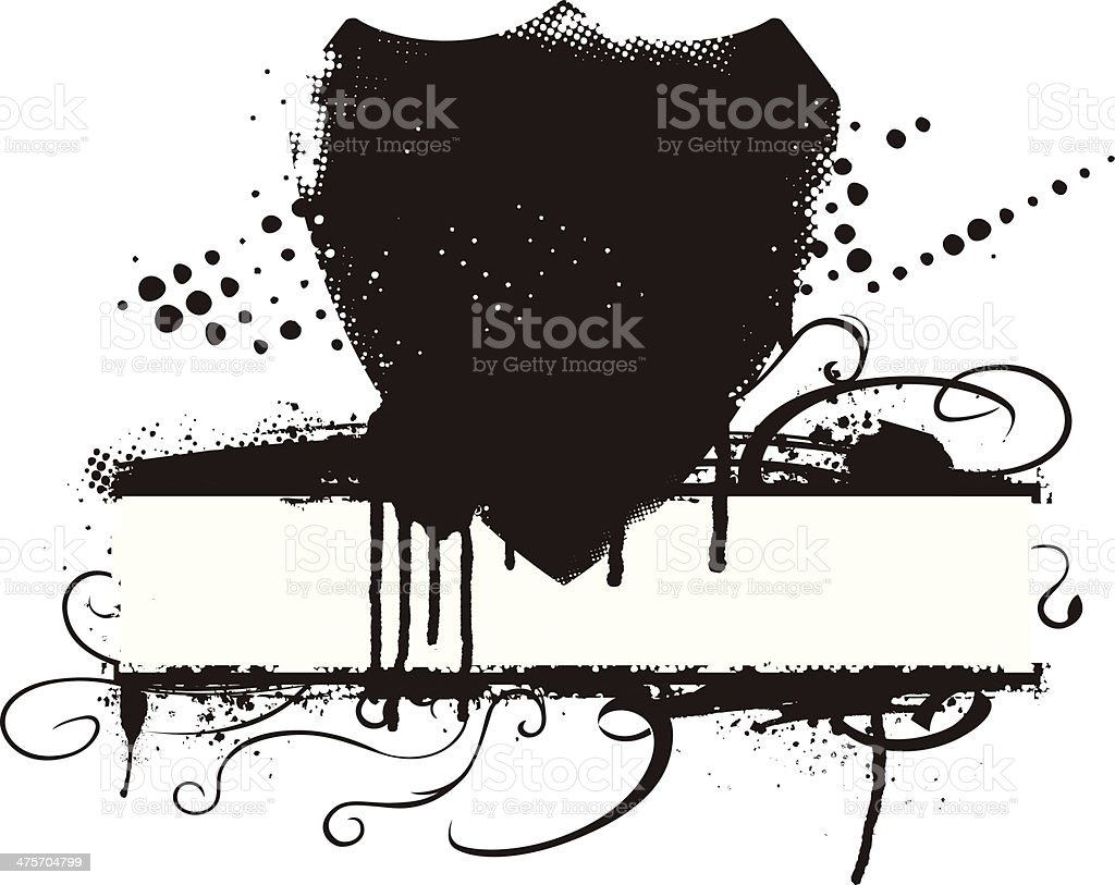 grunge racing shield and beauty banner with waves royalty-free stock vector art