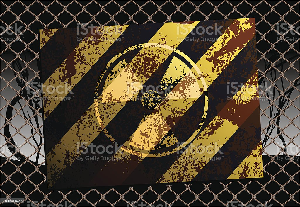 Grunge Radioactive Danger Sign royalty-free stock vector art