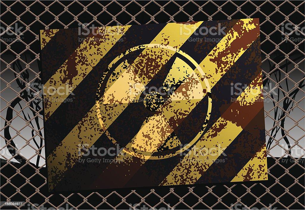 Grunge Radioactive Danger Sign vector art illustration
