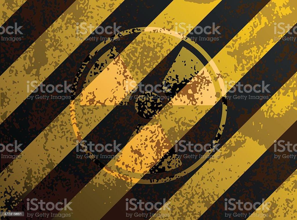 Grunge Radioactive Danger Sign royalty-free stock vector art