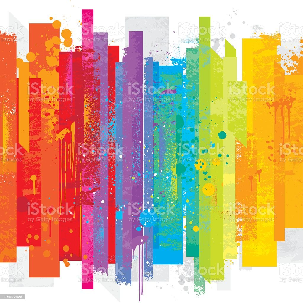 Grunge rainbow background vector art illustration